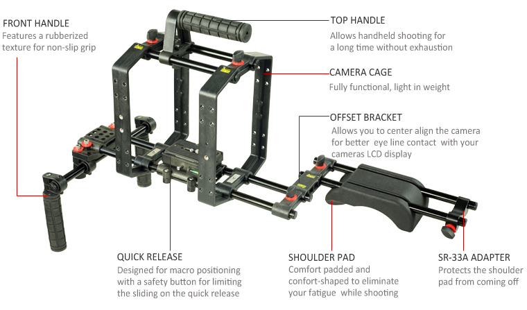 Filmcity video camera shoulder mount kit (FC-57-N)